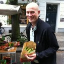 Okke met tuinbonen gekocht in Duitsland