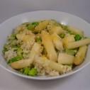 Risotto met tuinbonen en asperges